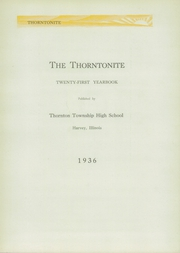 Page 7, 1936 Edition, Thornton Township High School - Thorntonite Yearbook (Harvey, IL) online yearbook collection