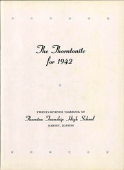 Page 7, 1942 Edition, Thornton Township High School - Thorntonite Yearbook (Harvey, IL) online yearbook collection