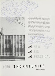 Page 7, 1959 Edition, Thornton Township High School - Thorntonite Yearbook (Harvey, IL) online yearbook collection