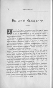 Page 14, 1886 Edition, University of Georgia - Pandora Yearbook (Athens, GA) online yearbook collection
