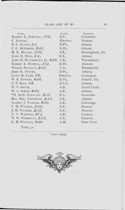 Page 17, 1886 Edition, University of Georgia - Pandora Yearbook (Athens, GA) online yearbook collection
