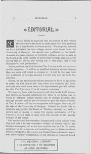 Page 5, 1886 Edition, University of Georgia - Pandora Yearbook (Athens, GA) online yearbook collection