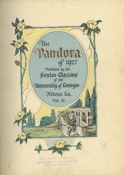 Page 7, 1927 Edition, University of Georgia - Pandora Yearbook (Athens, GA) online yearbook collection