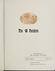 Page 7, 1949 Edition, University of Georgia - Pandora Yearbook (Athens, GA) online yearbook collection