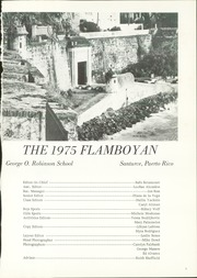 Page 5, 1975 Edition, Robinson School - Flamboyan Yearbook (Santurce, Puerto Rico) online yearbook collection