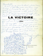 Page 5, 1964 Edition, Dreux American High School - La Victoire Yearbook (Dreux, France) online yearbook collection