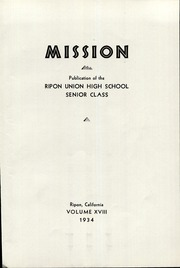 Page 5, 1934 Edition, Ripon High School - Mission Yearbook (Ripon, CA) online yearbook collection