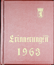 Page 1, 1963 Edition, Berlin American High School - Erinnerungen Yearbook (Berlin, Germany) online yearbook collection