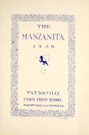 Page 7, 1929 Edition, Watsonville High School - Manzanita Yearbook (Watsonville, CA) online yearbook collection