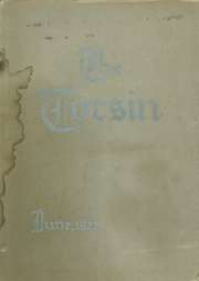 Page 1, 1922 Edition, Santa Clara High School - Tocsin Yearbook (Santa Clara, CA) online yearbook collection