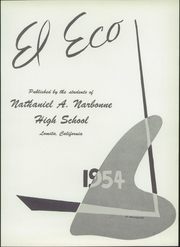 Page 7, 1954 Edition, Nathaniel Narbonne High School - El Eco Yearbook (Harbor City, CA) online yearbook collection