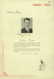 Page 16, 1936 Edition, Tulare Union High School - Argus Yearbook (Tulare, CA) online yearbook collection