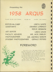 Page 4, 1958 Edition, Tulare Union High School - Argus Yearbook (Tulare, CA) online yearbook collection