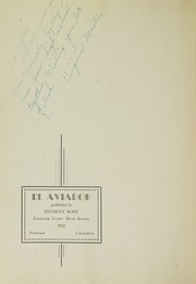 Page 6, 1932 Edition, Excelsior High School - El Aviador Yearbook (Norwalk, CA) online yearbook collection