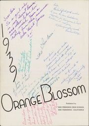 Page 6, 1939 Edition, San Fernando High School - Orange Blossom Yearbook (San Fernando, CA) online yearbook collection