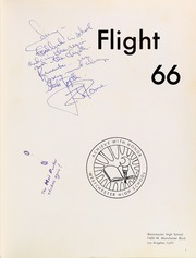 Page 5, 1966 Edition, Westchester High School - Flight Yearbook (Los Angeles, CA) online yearbook collection
