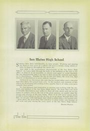 Page 13, 1931 Edition, San Mateo High School - Elm Yearbook (San Mateo, CA) online yearbook collection