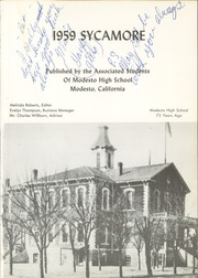 Page 5, 1959 Edition, Modesto High School - Sycamore Yearbook (Modesto, CA) online yearbook collection