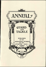 Page 7, 1922 Edition, Stockton High School - Guard and Tackle Yearbook (Stockton, CA) online yearbook collection