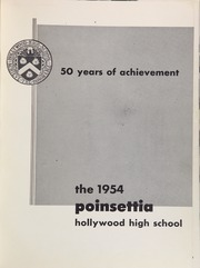 Page 5, 1954 Edition, Hollywood High School - Poinsettia Yearbook (Hollywood, CA) online yearbook collection