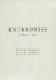 Page 7, 1947 Edition, Petaluma High School - Trojans Yearbook (Petaluma, CA) online yearbook collection