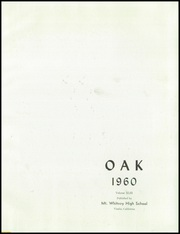 Page 5, 1960 Edition, Mount Whitney High School - Oak Yearbook (Visalia, CA) online yearbook collection