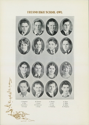 Page 16, 1930 Edition, Fresno High School - Owl Yearbook (Fresno, CA) online yearbook collection