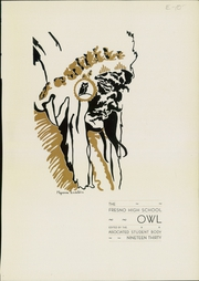 Page 5, 1930 Edition, Fresno High School - Owl Yearbook (Fresno, CA) online yearbook collection