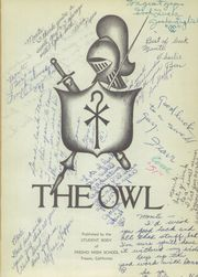 Page 5, 1951 Edition, Fresno High School - Owl Yearbook (Fresno, CA) online yearbook collection