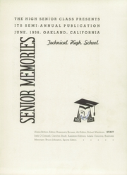 Page 7, 1938 Edition, Oakland Technical High School - Talisman Yearbook (Oakland, CA) online yearbook collection