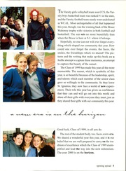 Page 9, 1999 Edition, St Ignatius College Preparatory - Ignatian Yearbook (San Francisco, CA) online yearbook collection