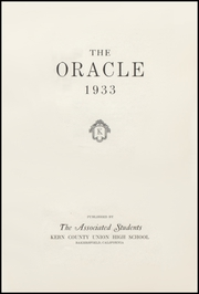 Page 5, 1933 Edition, Bakersfield High School - Oracle Yearbook (Bakersfield, CA) online yearbook collection