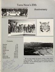Page 5, 1982 Edition, Terra Nova High School - Terra Nova Yearbook (Pacifica, CA) online yearbook collection