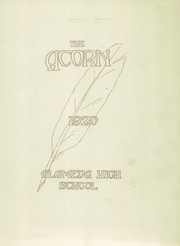 Page 5, 1920 Edition, Alameda High School - Acorn Yearbook (Alameda, CA) online yearbook collection