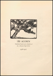 Page 5, 1927 Edition, Alameda High School - Acorn Yearbook (Alameda, CA) online yearbook collection