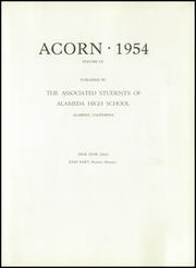 Page 5, 1954 Edition, Alameda High School - Acorn Yearbook (Alameda, CA) online yearbook collection