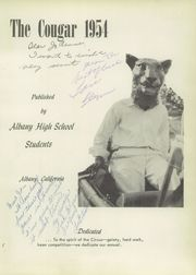 Page 7, 1954 Edition, Albany High School - Cougar Yearbook (Albany, CA) online yearbook collection
