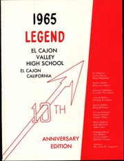 Page 5, 1965 Edition, El Cajon Valley High School - Legend Yearbook (El Cajon, CA) online yearbook collection