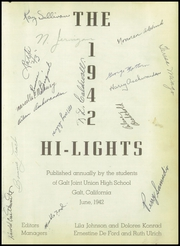 Page 5, 1942 Edition, Galt High School - Highlights Yearbook (Galt, CA) online yearbook collection