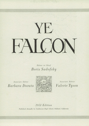 Page 11, 1951 Edition, Castlemont High School - Falcon Yearbook (Oakland, CA) online yearbook collection