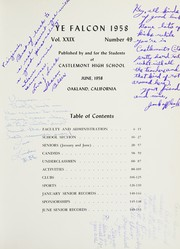 Page 7, 1958 Edition, Castlemont High School - Falcon Yearbook (Oakland, CA) online yearbook collection