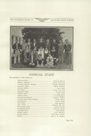 Page 9, 1925 Edition, Hayward High School - Agrarian Yearbook (Hayward, CA) online yearbook collection