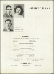Page 11, 1945 Edition, Hayward High School - Agrarian Yearbook (Hayward, CA) online yearbook collection