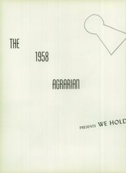 Page 6, 1958 Edition, Hayward High School - Agrarian Yearbook (Hayward, CA) online yearbook collection