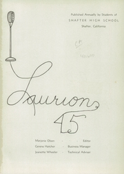 Page 5, 1945 Edition, Shafter High School - Laurion Yearbook (Shafter, CA) online yearbook collection
