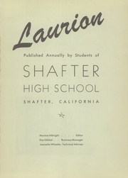 Page 5, 1946 Edition, Shafter High School - Laurion Yearbook (Shafter, CA) online yearbook collection