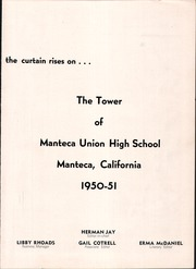 Page 7, 1951 Edition, Manteca Union High School - Tower Yearbook (Manteca, CA) online yearbook collection