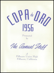 Page 9, 1956 Edition, Fillmore High School - Copa de Oro Yearbook (Fillmore, CA) online yearbook collection