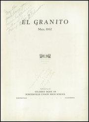 Page 9, 1932 Edition, Porterville Union High School - El Granito Yearbook (Porterville, CA) online yearbook collection