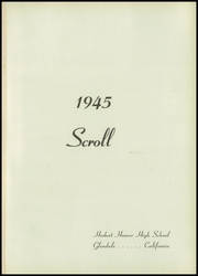 Page 5, 1945 Edition, Herbert Hoover High School - Scroll Yearbook (Glendale, CA) online yearbook collection